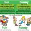کاربردها و تفاوت های Fun و Funny در زبان انگلیسی-Fun_vs_Funny